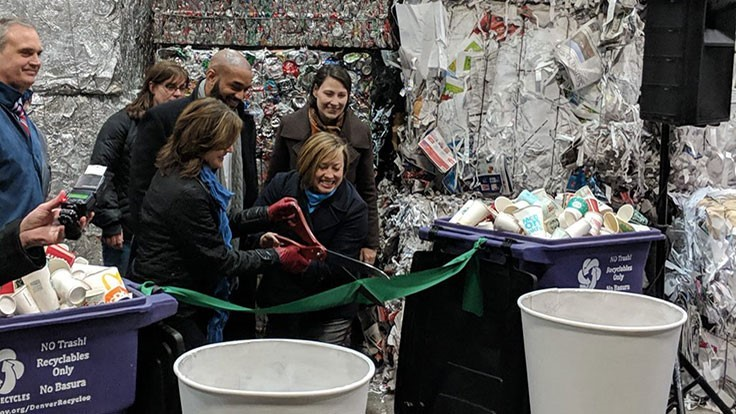Denver to recycle paper cups
