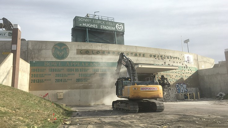 Inside CSU's football stadium demolition