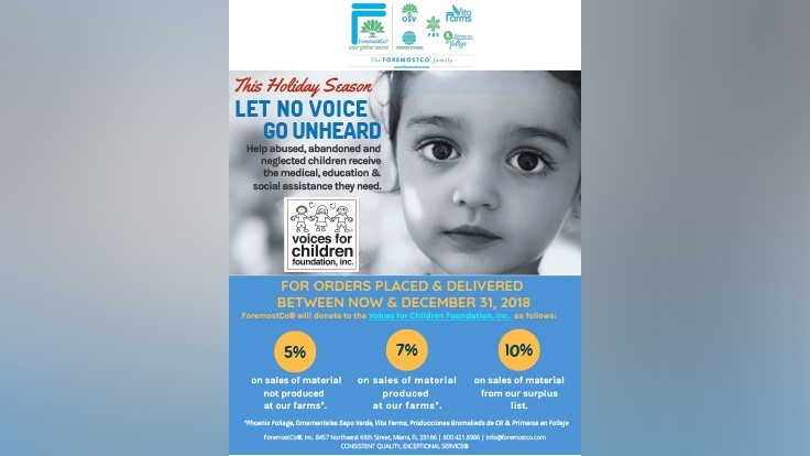 ForemostCo to donate a percentage of December sales to Voices for Children Foundation