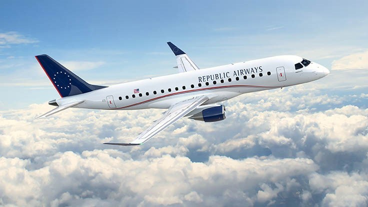 Republic Airways confirms order for 100 Embraer E175s