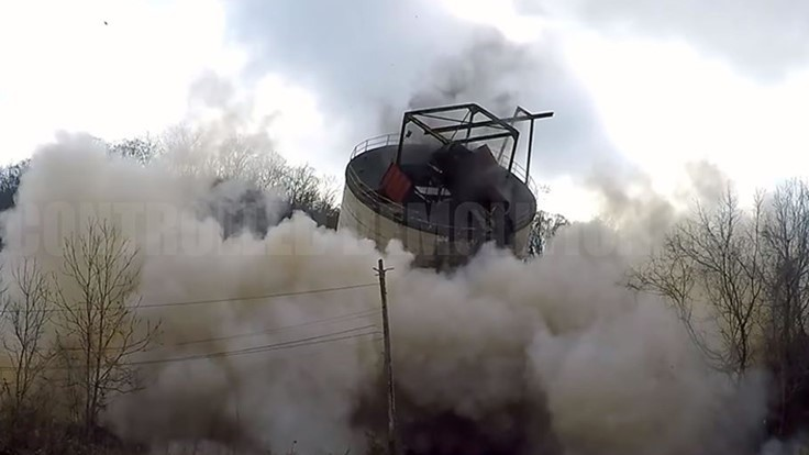 VIDEO: CDI implodes silos at Lexington Coal