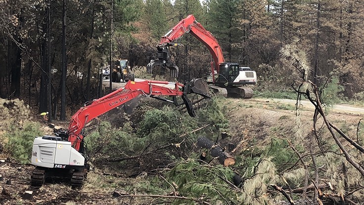 Bejac Corp. assists in wildfire cleanup