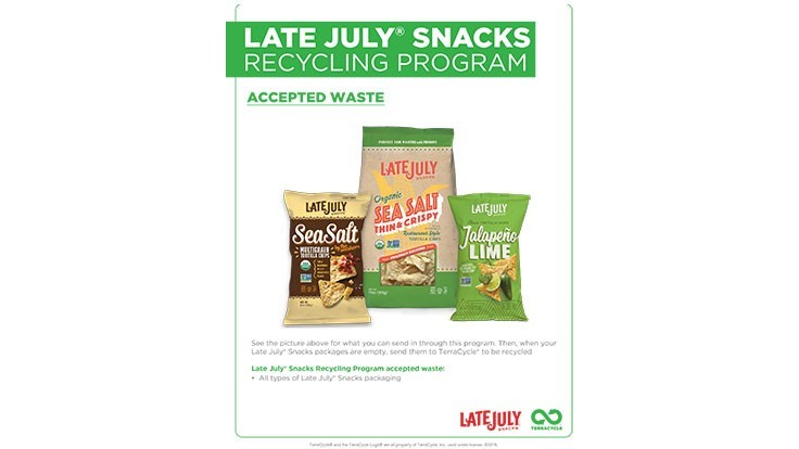 Late July Snacks expands recycling partnership with TerraCycle