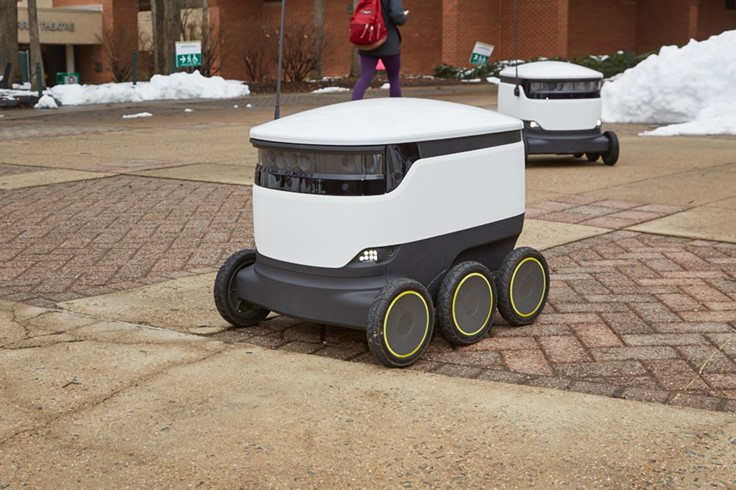 George Mason University students can have robots deliver food through meal plans