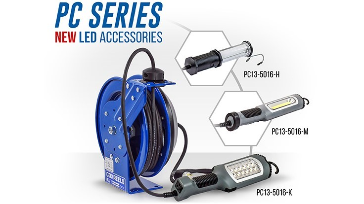 Coxreels Introduces Industrial Duty LED Lights for PC13 Model