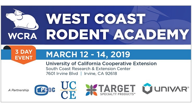 West Coast Rodent Academy Scheduled for March 12-14