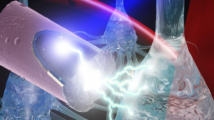 Ultra-small, light-activated electrode for neural stimulation