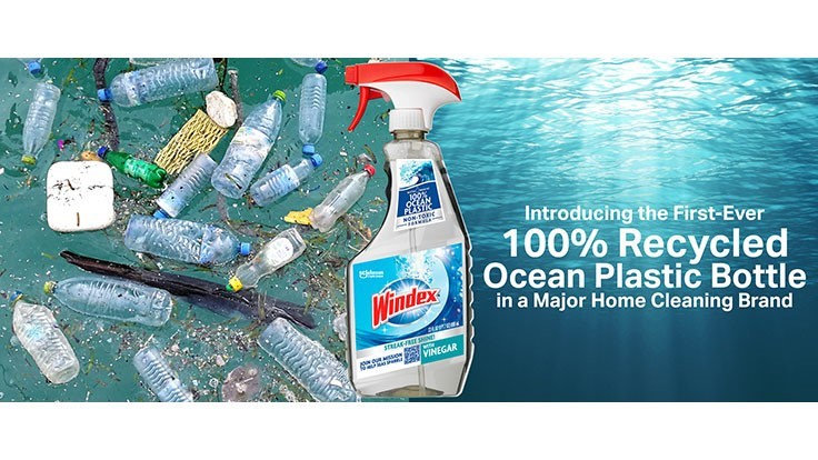 SC Johnson launches Windex bottle made completely from ocean plastics