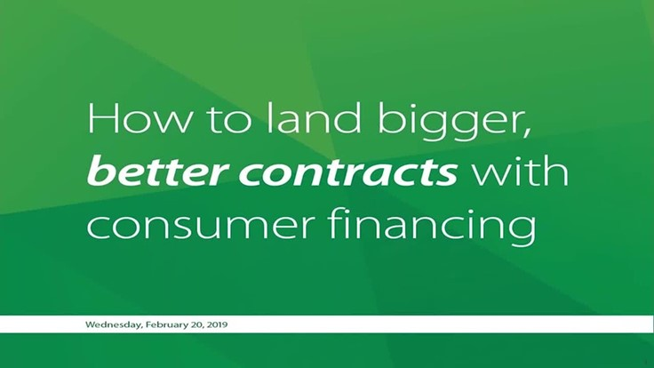 How to land bigger and better contracts with consumer financing