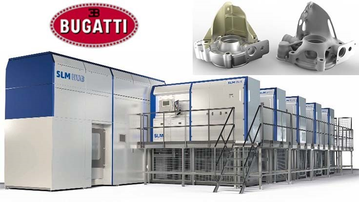Bugatti pushes metal additive manufacturing with SLM Solutions