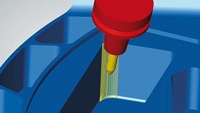 CAD/CAM software includes prismatic fillet finishing