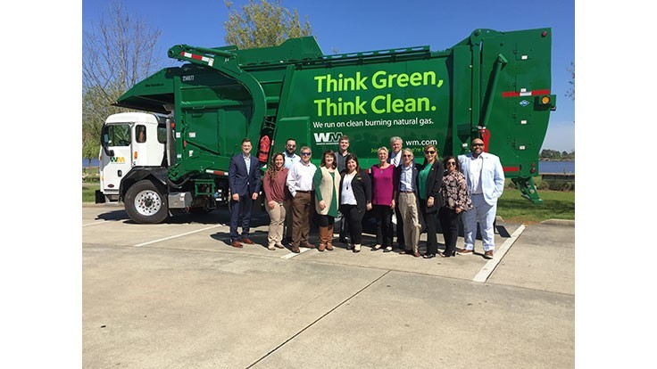 Waste Management debuts new CNG fleet in Lake Charles, Louisiana