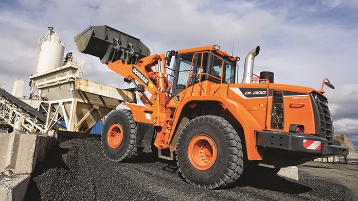 Doosan to offer Trimble onboard scales on wheel loaders