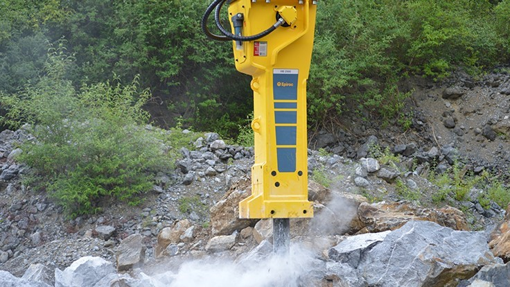 Epiroc showcases hydraulic attachments at Demolition Rockies