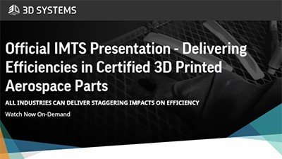 Delivering efficiencies in certified 3D printed aerospace parts
