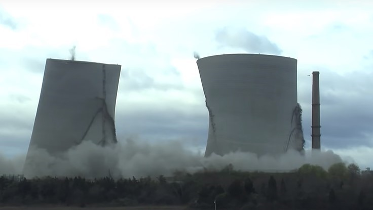 Video: CDI sets world record for tallest cooling tower implosion