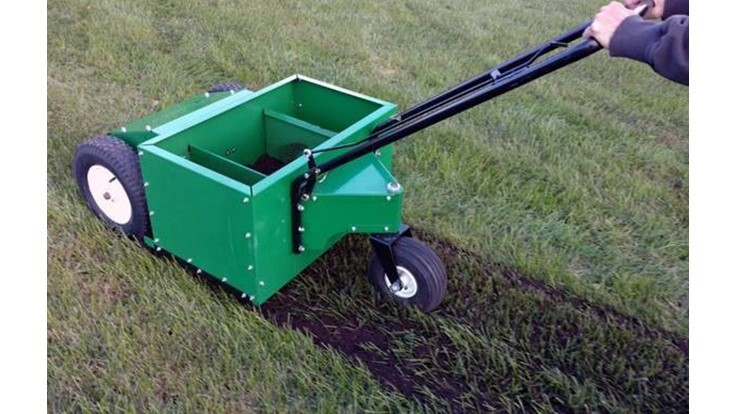 Model 45HP walk-behind compost spreader