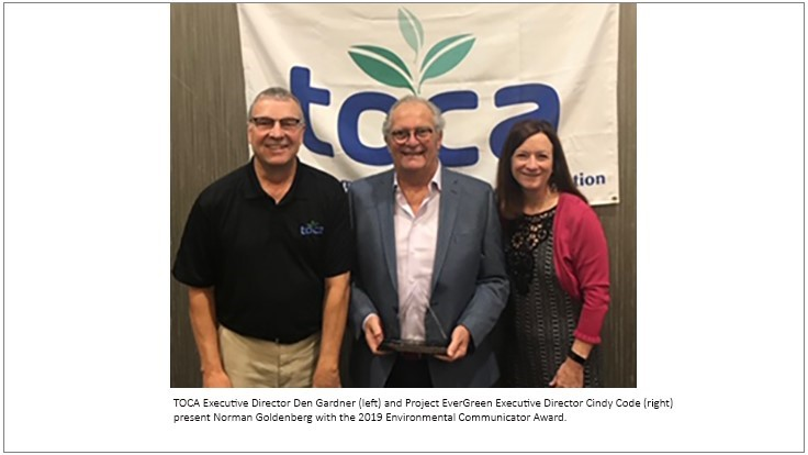Norman Goldenberg Named 2019 TOCA Environmental Communicator of the Year