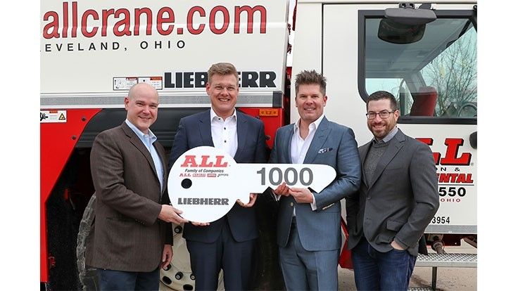 Liebherr delivers 1,000th LTM crane to All Family of Companies