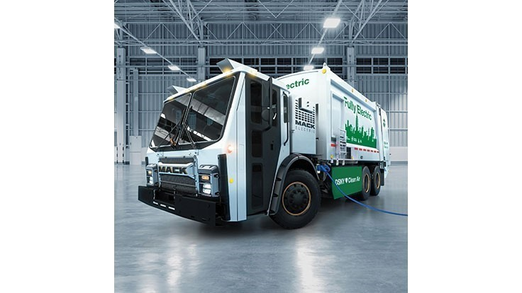Volvo Group's Mack subsidiary unveils electric garbage truck