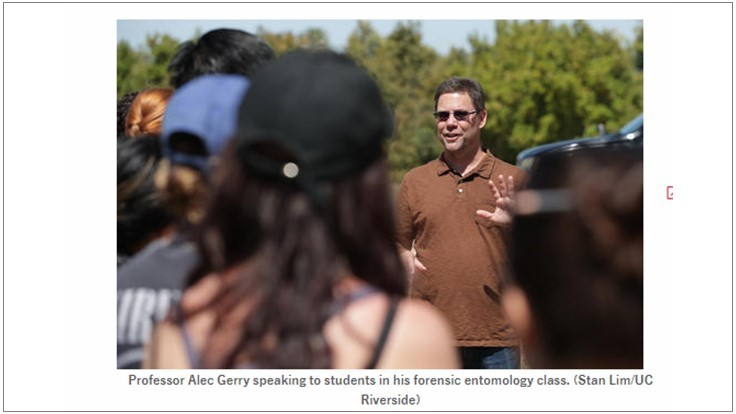 Forensic Entomology Growing in Popularity Among UCR Students