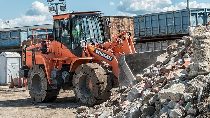 Valley Services utilizes wheel loaders to meet material handling needs