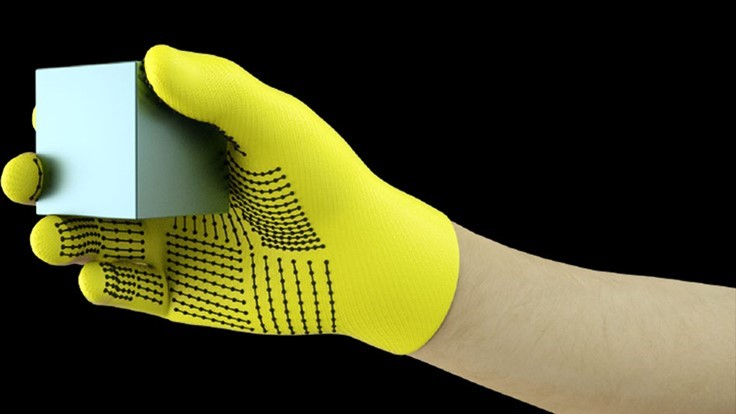 Sensor-packed glove learns human grasp