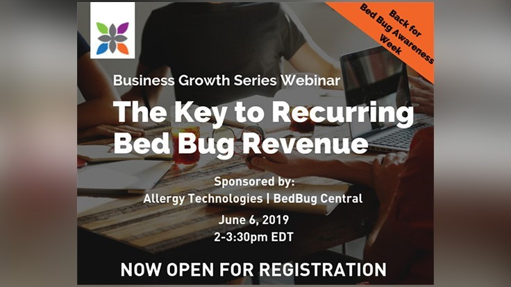 'Key to Recurring Bed Bug Revenue' Webinar is Thursday