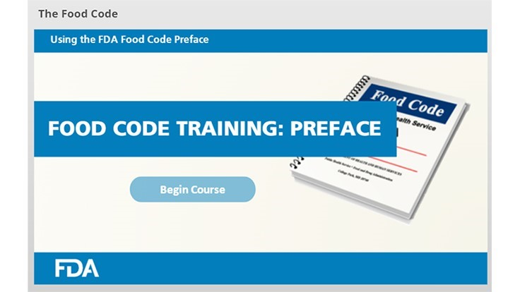 FDA Releases Decoding the Food Code Online Training Module