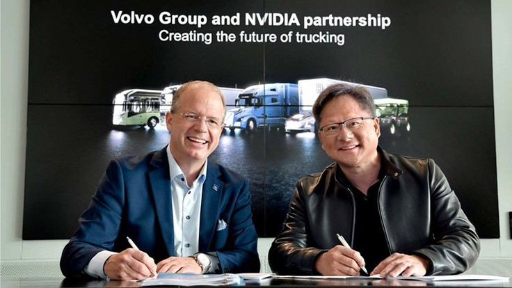 Volvo Group partners with NVIDIA to develop autonomous truck technologies