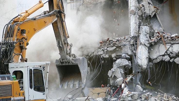 Exterior demolition begins on Detroit arena