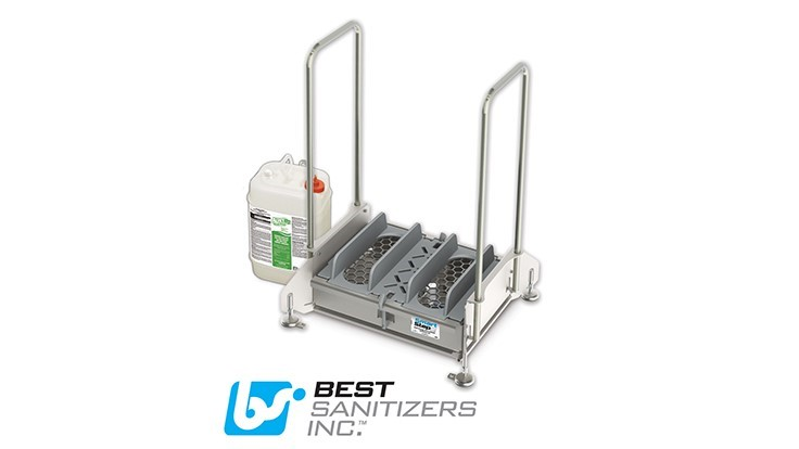 Best Sanitizers Introduces HACCP SmartStep2 Walk-Through Dual Footwear Sanitizing Unit