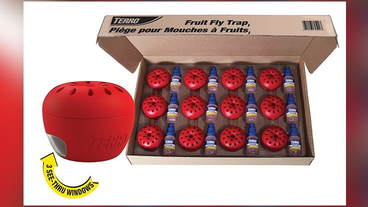 TERRO Fruit Fly Traps Enhanced with Improved Design and Bulk Pack