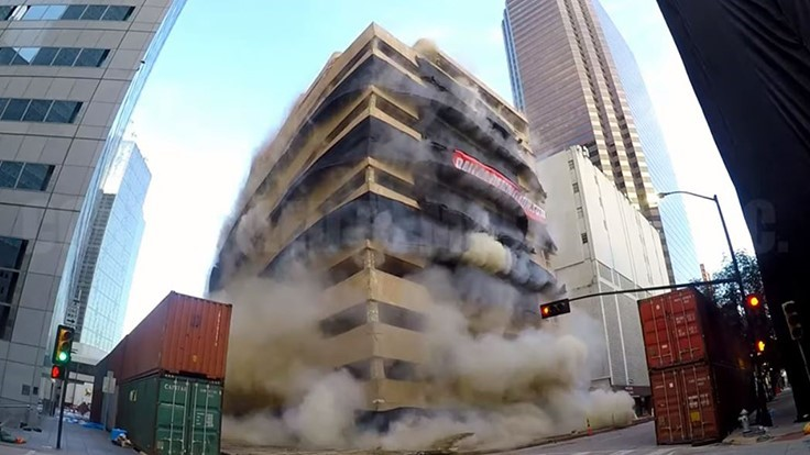 CDI implodes downtown Dallas building