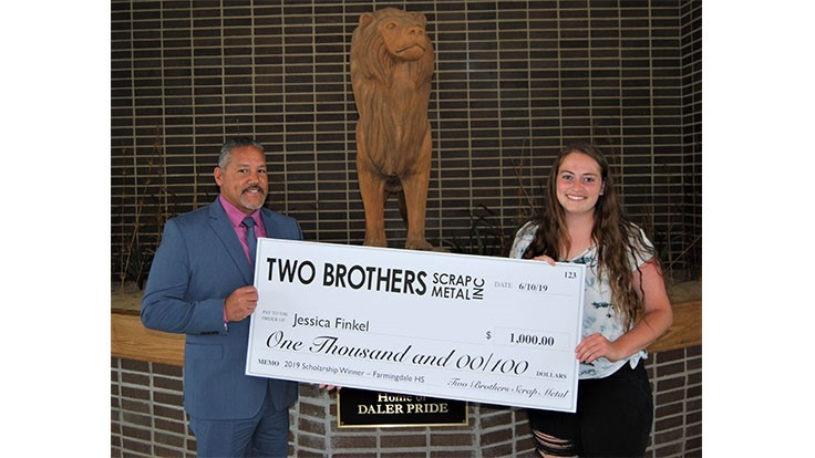 Two Brothers Scrap Metal grants environmental conservation scholarship