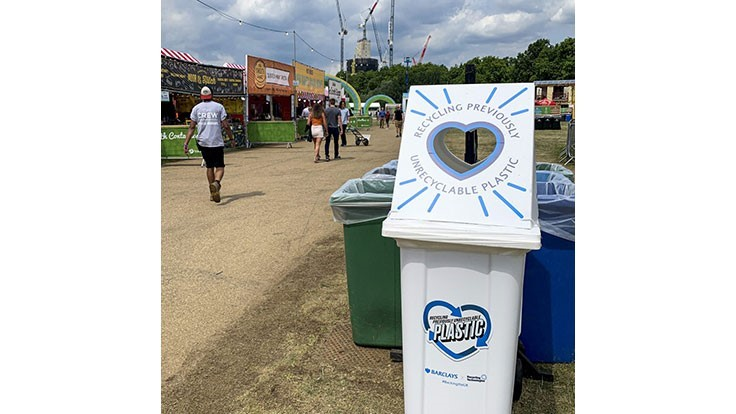 Recycling Technologies launches bin initiative at British music festival