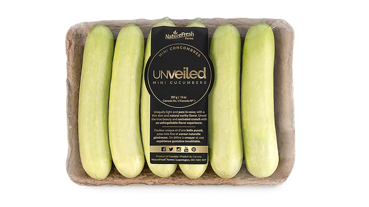NatureFresh Farms releases Unveiled Mini Cucumber