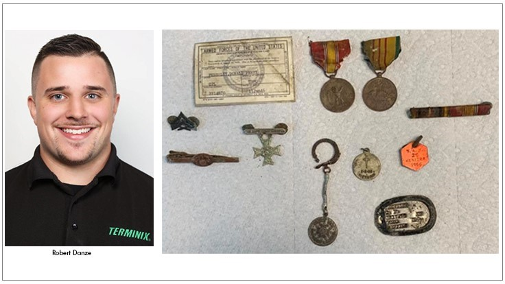 Terminix Triad Employee Discovers War Medals in Crawlspace; Finds Owner