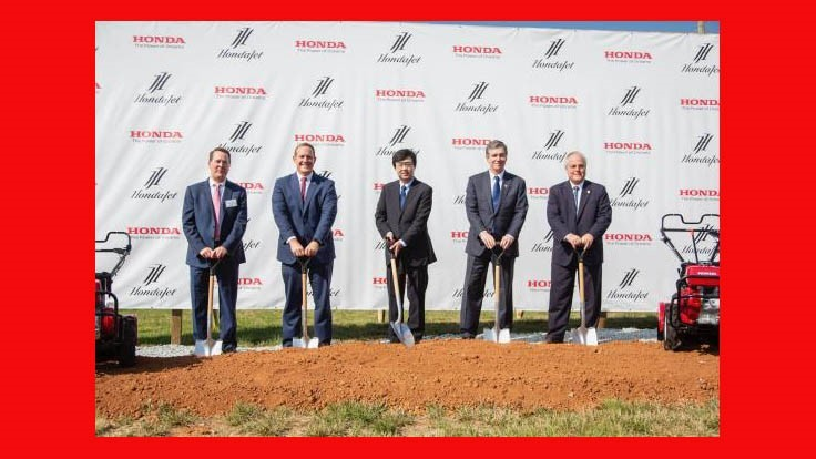 Honda Aircraft Co. breaks ground on wing production facility