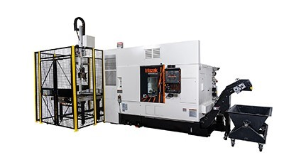 Mazak adds automation to Quick Turn 250MSY + GR100