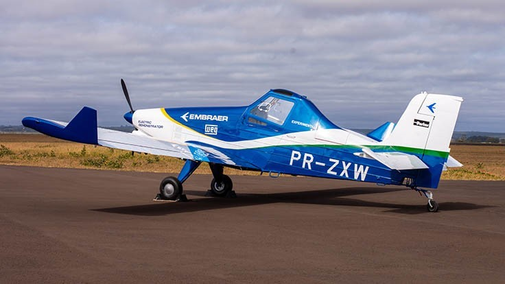 Embraer unveils electric propulsion demonstrator aircraft