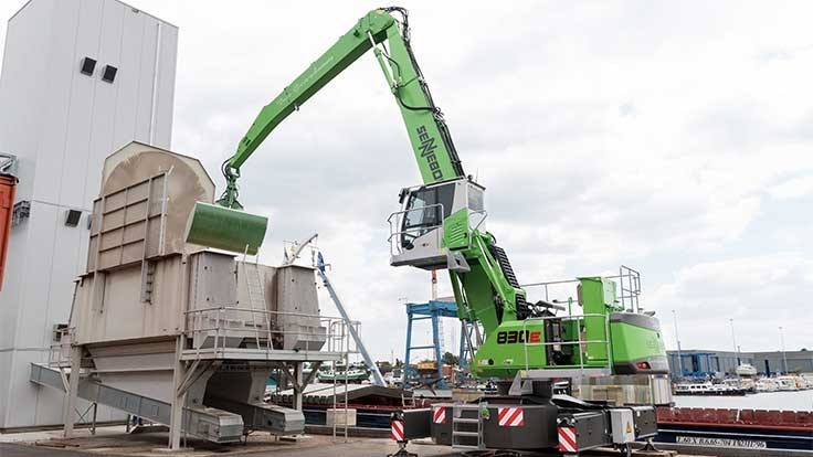 Sennebogen offers electric drive, power pack for material handlers