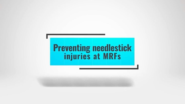 Sponsored: Preventing needlestick injuries in MRFs