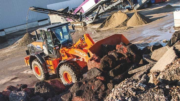 Hitachi debuts ZW180-6 loader