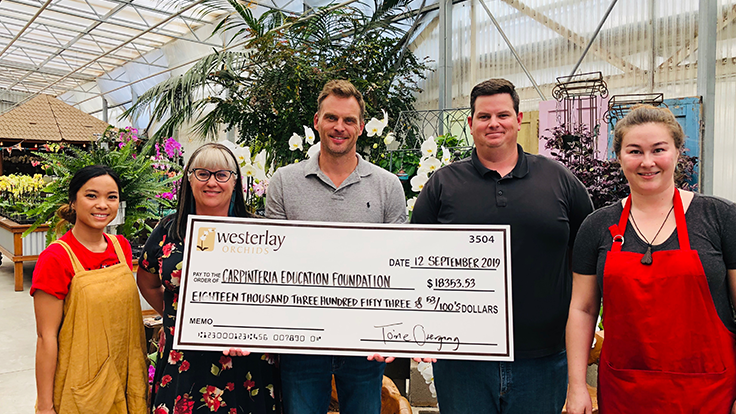 Westerlay Orchids raises over $18,000 for local charity