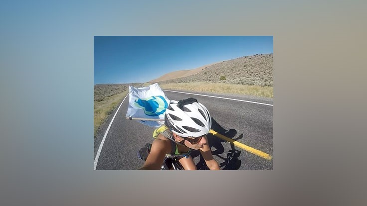 Cyclist launches bike trek to raise awareness for proper recycling