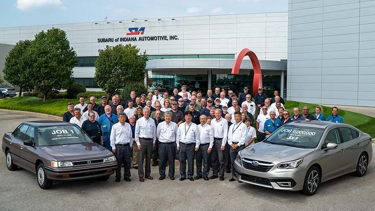 Subaru hits Indiana production milestone