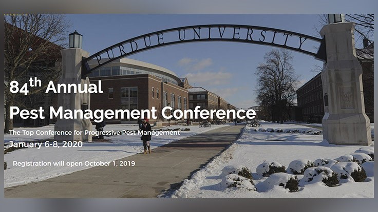 Registration Open for 84th Purdue Pest Management Conference