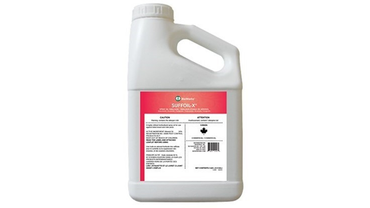 BioWorks' SuffOil-X horticultural spray oil is now available in Canada