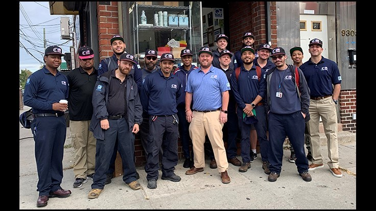 Colony Pest Wearing Pink Hats for Breast Cancer Awareness Month